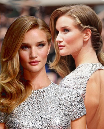 Transformers star rosie huntington whiteley gorgeous premiere rosie huntington whiteley wowed the german premiere with a unique twisted hairstyle she opted for a loose tousled hairstyle and added a fresh winobraniefo Images