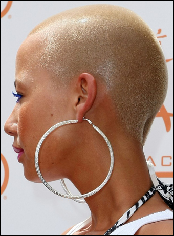 pics of amber rose with long hair. Amber Rose#39;s Shaver Hairstyle