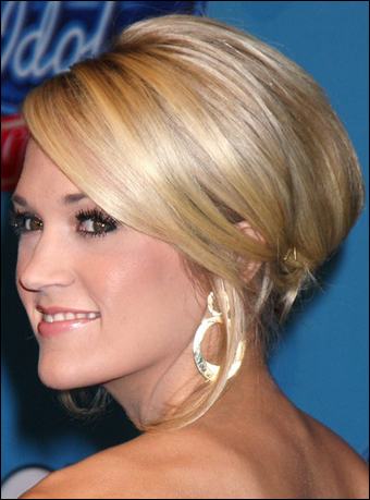 carrie underwood updos hairstyles. Carrie Underwood wearing