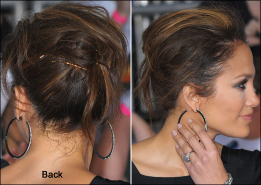 messy updo hairstyle, unfinished updo hairstyle,. Jennifer Lopez's