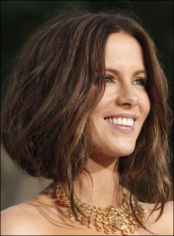 Kate Beckinsale S Elegant Low Updo Hairstyle