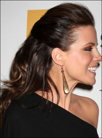 Kate Beckinsale Without Hair Extensions Kate Beckinsale's Half...