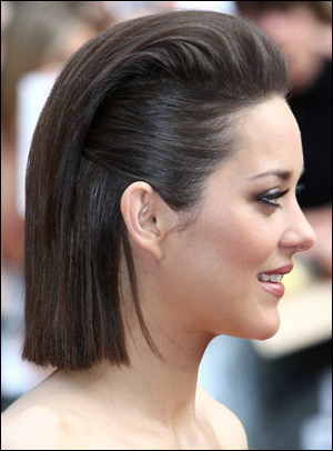 Marion Cotillards Pulled Back Straight Bob Hairstyle
