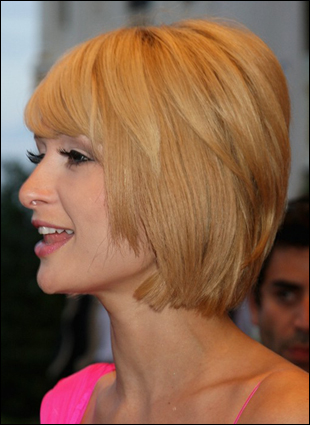 Long Layered Bob Hairstyles 2011. Paris Hilton's asymmetrical layered bob
