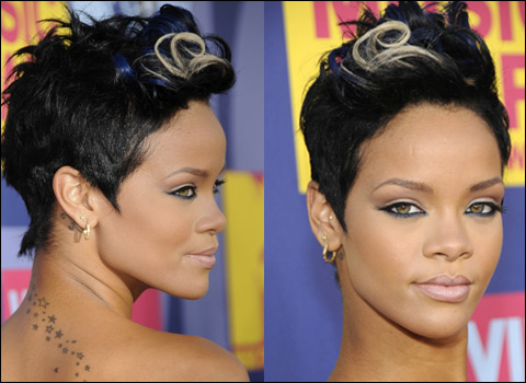 MTV VMAs 2008, Rihanna, short hairstyle,